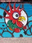 Street art Rooster