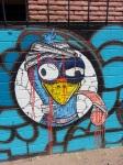 Street art Ostrich